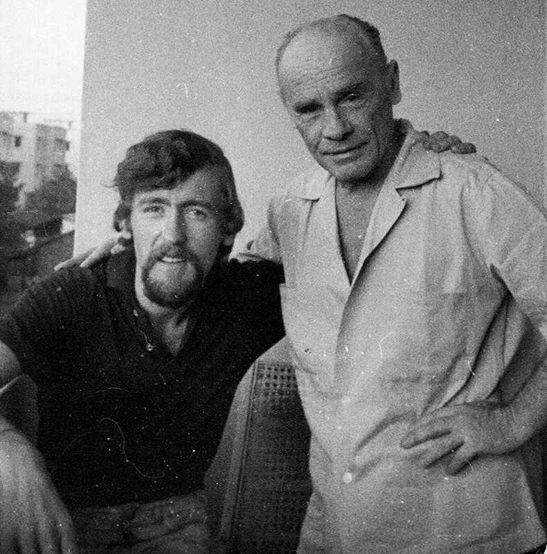 Peter Rowan with Francis Brabazon, Poona 1st May 1965