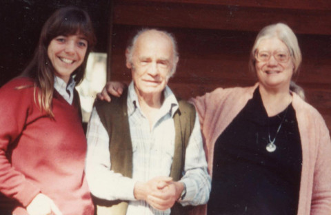 Francis (center) with Ursula (left) and Filis (right) 1981
