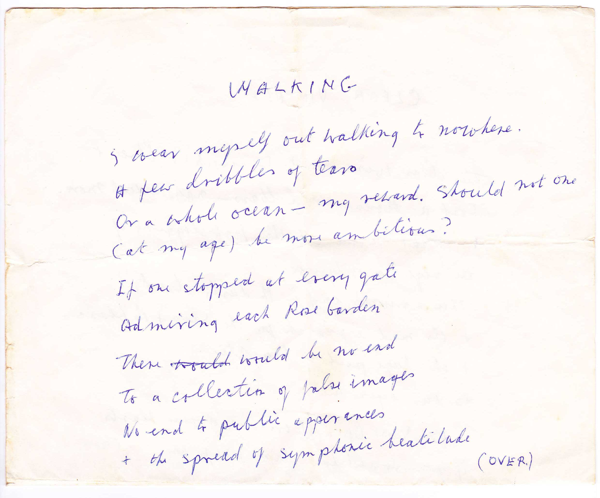 Walking - An unpublished poem by Francis Brabazon