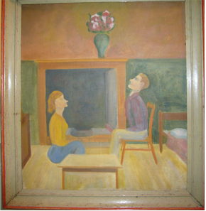 'annunciation' painting by Francis Brabazon