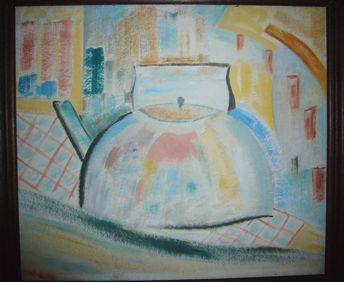 kettle in landscape